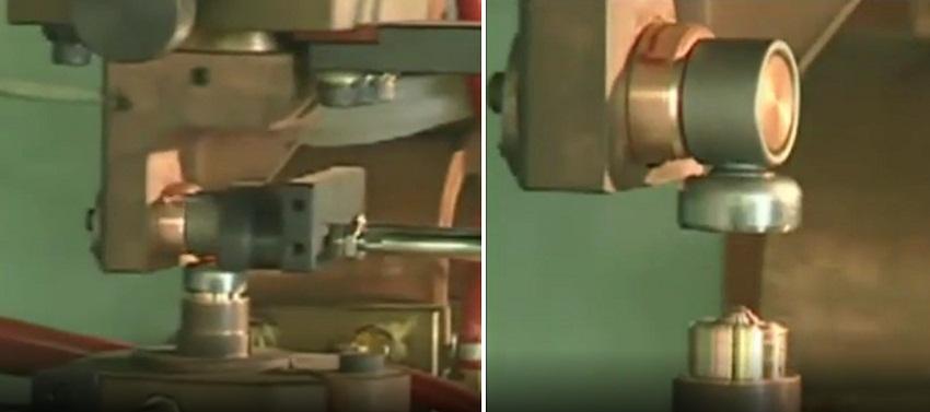 приварка проушины к донышку резервуара контактной сваркой