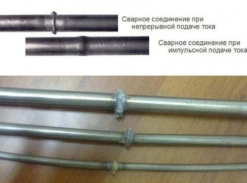 стыковая сварка с импульсным током и с увеличением давления при осадке
