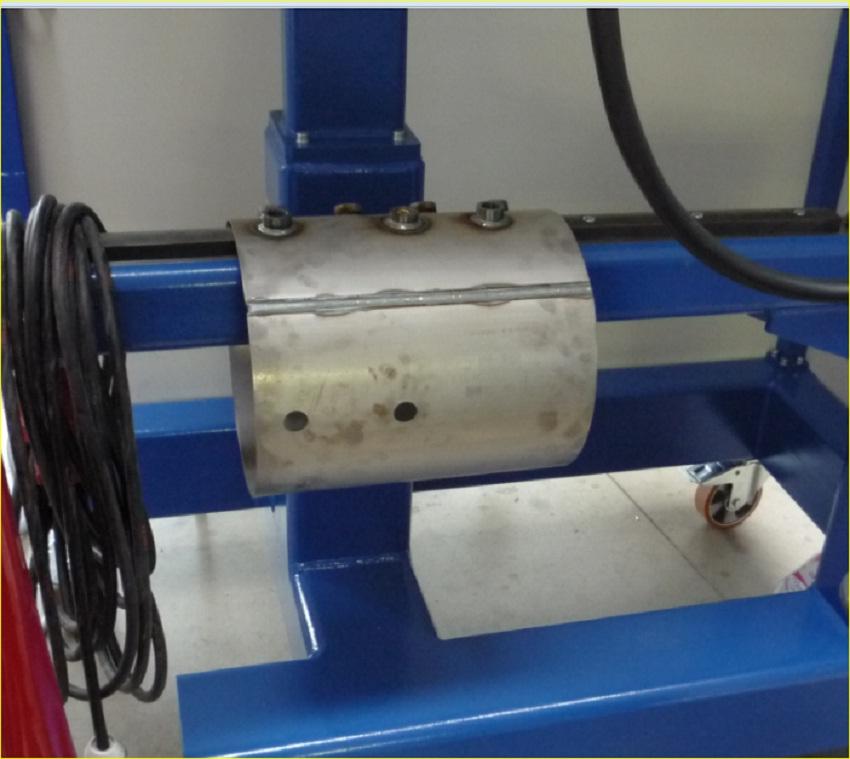 установка для сварки бонок (портов) в ресиверы