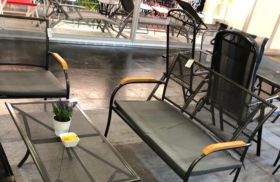 мебель садовая с применением просечно-вытяжной сетки